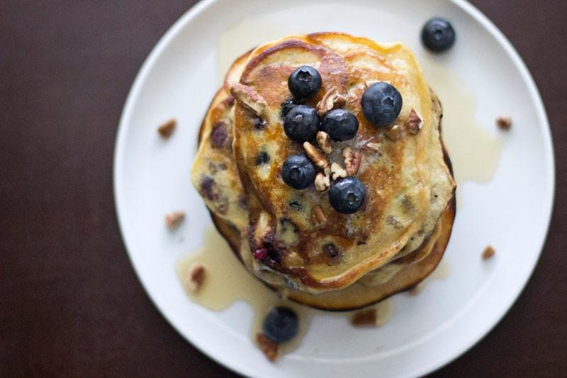 Blueberry Pecan Pancakes